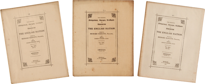 THE PRINCIPAL NAVIGATIONS, VOYAGES, TRAFFIQUES, AND DISCOVERIES OF THE ENGLISH NATION. Richard Hakluyt.