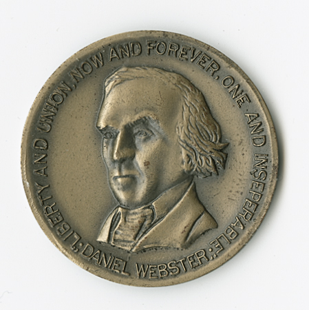 [NEW HAMPSHIRE STATE CONSTITUTION COMMEMORATIVE MEDAL, BEARING PORTRAIT OF DANIEL WEBSTER]. American Medalist.
