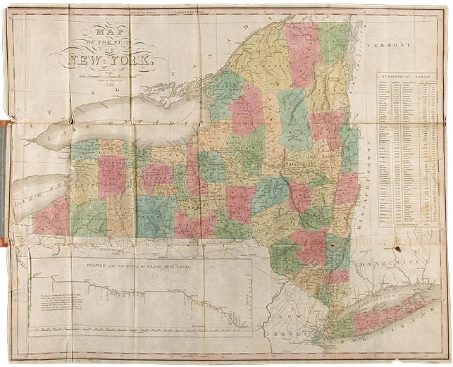 MAP OF THE STATE OF NEW YORK. Anthony Finley, D. H. Vance.