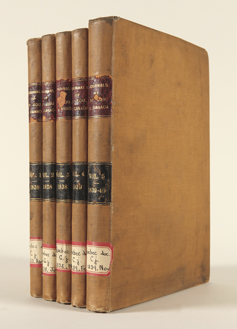 JOURNALS OF THE SPECIAL COUNCIL OF THE PROVINCE OF LOWER CANADA. Canada.