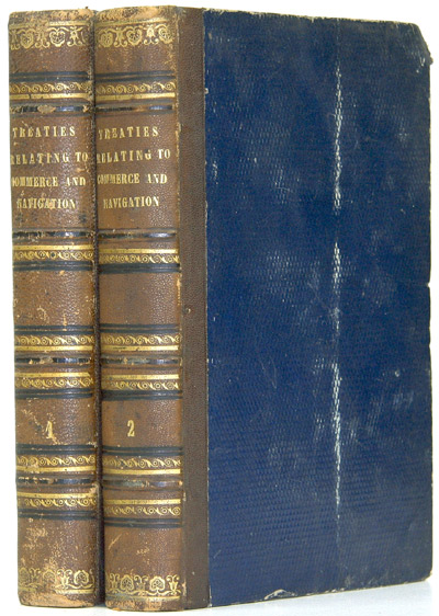 A COMPLETE COLLECTION OF THE TREATIES AND CONVENTIONS AT PRESENT SUBSISTING BETWEEN GREAT BRITAIN & FOREIGN POWERS; SO FAR AS THEY RELATE TO COMMERCE AND NAVIGATION; TO THE REPRESSION AND ABOLITION OF THE SLAVE TRADE. British Treaties, Lewis Hertslet, comp.