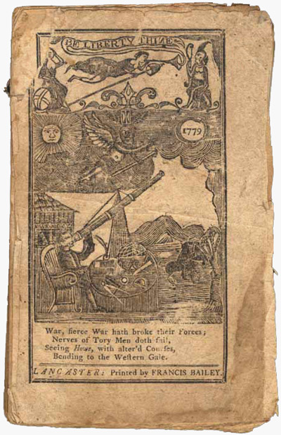 THE LANCASTER ALMANACK, FOR THE YEAR OF OUR LORD, 1779. Anthony Sharp, pseud.