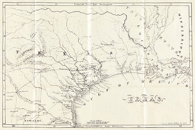 Map Of Texas 1835.History Of The Revolution In Texas Particularly Of The War Of 1835 36 By Chester Newell Rev On William Reese Company