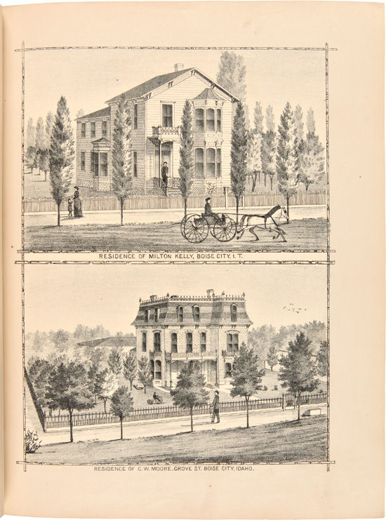 HISTORY OF IDAHO TERRITORY SHOWING ITS RESOURCES AND ADVANTAGES; WITH ILLUSTRATIONS DESCRIPTIVE OF ITS SCENERY, RESIDENCES, FARMS, MINES, MILLS, HOTELS, BUSINESS HOUSES, SCHOOLS, CHURCHES, &c. Idaho.