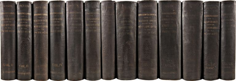 REPORTS OF EXPLORATIONS AND SURVEYS, TO ASCERTAIN THE MOST PRACTICABLE AND ECONOMICAL ROUTE FOR A RAILROAD FROM THE MISSISSIPPI RIVER TO THE PACIFIC OCEAN. MADE UNDER THE DIRECTION OF THE SECRETARY OF WAR, IN 1853-4. Pacific Railroad Surveys.