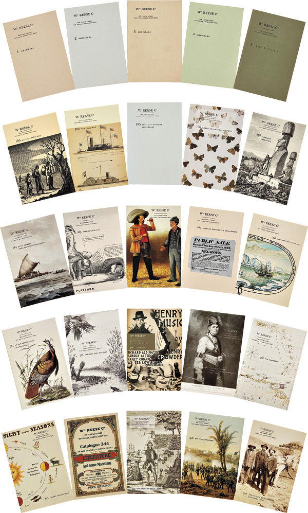 [COMPLETE RUN OF RARE BOOK CATALOGUES OF THE WILLIAM REESE COMPANY, FROM CATALOGUE 1 TO 374]. William Reese Company.