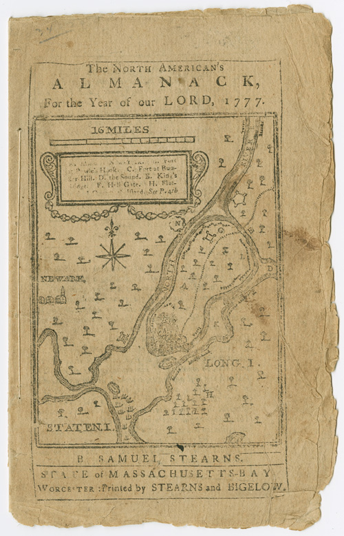 THE NORTH AMERICAN'S ALMANACK, FOR THE YEAR OF OUR LORD, 1777. Samuel Stearns.