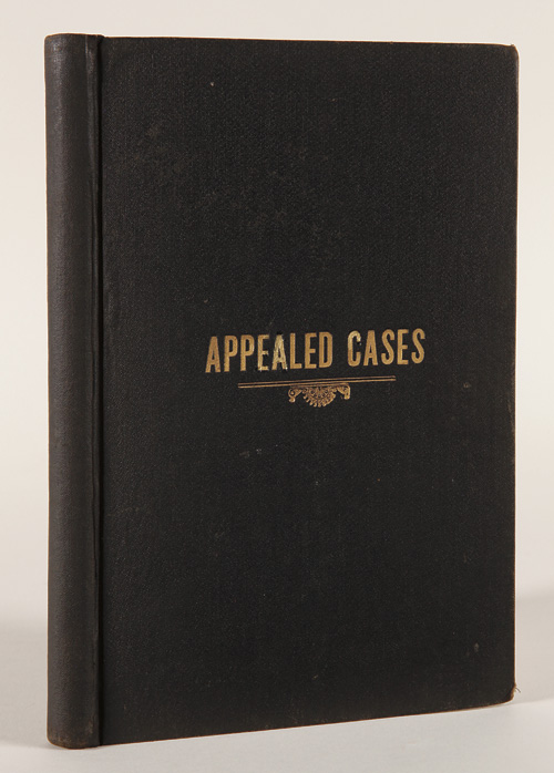 APPEALED CASES. A HISTORY OF CERTAIN COURT CORRUPTIONS, IN THE U.S. AND STATE COURTS OF DAKOTA, WITH RAMIFICATIONS AND CONNECTIONS, etc. George L. Houghton.