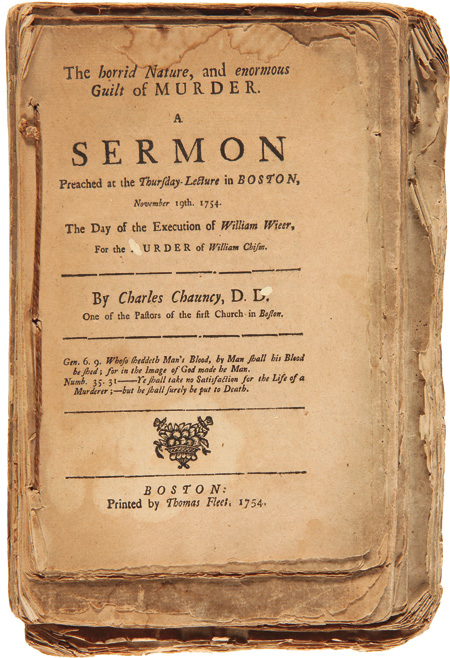 [COLLECTION OF SIX SERMONS BY CHARLES CHAUNCY, STITCHED TOGETHER AT AN EARLY DATE]. Charles Chauncy.