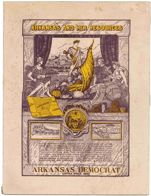 ARKANSAS AND HER RESOURCES. FACTS AND FIGURES FROM EVERY COUNTY IN ARKANSAS. THE OFFICIAL BOOK OF THE ARKANSAS COMMISSION PANAMA-PACIFIC INTERNATIONAL EXPOSITION. J. Frank Keeley.