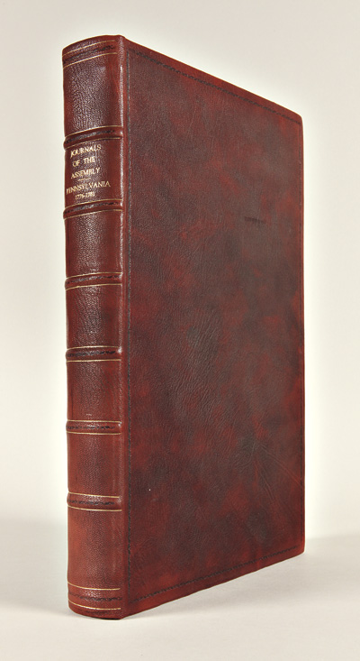 JOURNALS OF THE HOUSE OF REPRESENTATIVES OF THE COMMONWEALTH OF PENNSYLVANIA. BEGINNING THE TWENTY-EIGHTH DAY OF NOVEMBER, 1776, AND ENDING THE SECOND DAY OF OCTOBER, 1781. WITH THE PROCEEDINGS OF THE SEVERAL COMMITTEES AND CONVENTIONS, BEFORE AND AT THE COMMENCEMENT OF THE AMERICAN REVOLUTION. Volume the First. American Revolution.