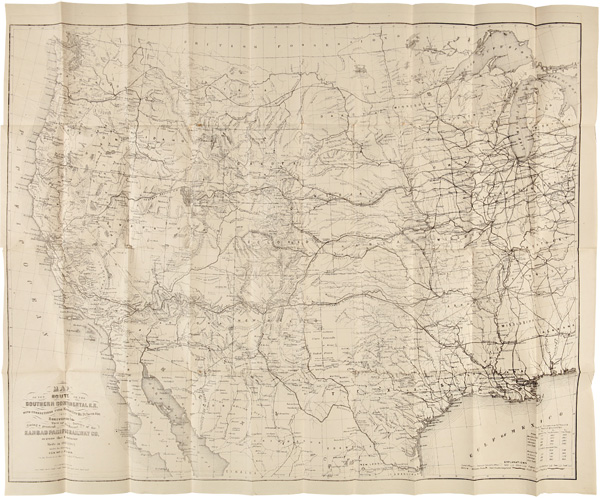 REPORT OF SURVEYS ACROSS THE CONTINENT IN 1867-'68, ON THE THIRTY-FIFTH AND THIRTY-SECOND PARALLELS, FOR A ROUTE EXTENDING THE KANSAS PACIFIC RAILWAY TO THE PACIFIC OCEAN AT SAN FRANCISCO AND SAN DIEGO. William J. Palmer.