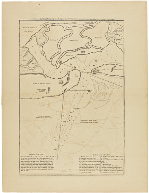A PLAN OF AMELIA HARBOUR AND BARR IN EAST FLORIDA. Survey'd in Jany. 1775. By Jacob Blamey, Master of His Majesty's Schooner St. John. Jacob Blamey.