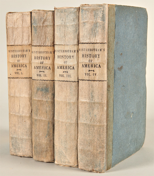 AN HISTORICAL GEOGRAPHICAL, COMMERCIAL, AND PHILOSOPHICAL VIEW OF THE AMERICAN UNITED STATES, AND OF THE EUROPEAN SETTLEMENTS IN AMERICA AND THE WEST-INDIES. William Winterbotham.