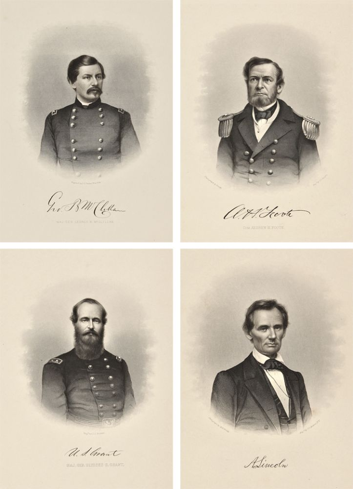 [COLLECTION OF FIFTY ENGRAVINGS OF CIVIL WAR UNION GENERALS, COLONELS, COMMODORES, AND OTHER NOTABLES, INCLUDING LINCOLN AND WASHINGTON, PUBLISHED DURING THE WAR]. Civil War - Union Officers, John Chester Buttre.