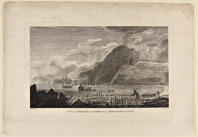 A VIEW OF CHRISTMAS HARBOR IN KERGUELEN'S LAND. Cook's Third Voyage.