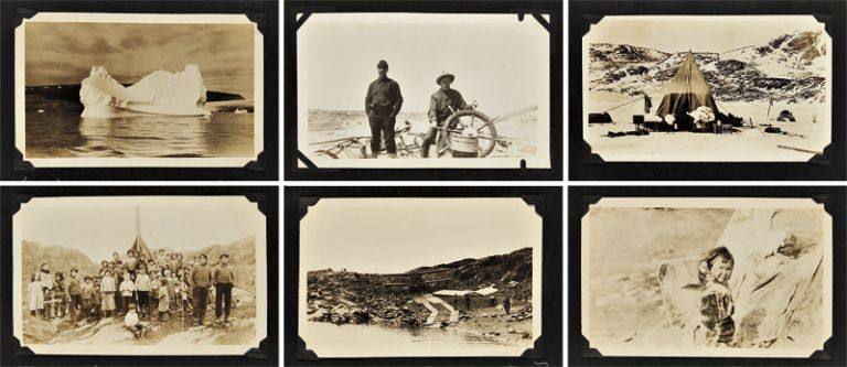 [ALBUM OF ORIGINAL PHOTOGRAPHS FROM THREE ARCTIC EXPEDITIONS COMMANDED BY DONALD BAXTER MacMILLAN]. Arctic Photographica, Donald Baxter MacMillan.