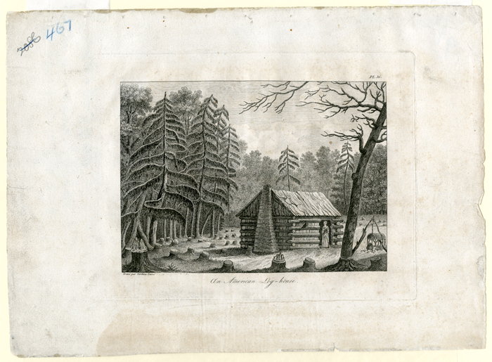 AN AMERICAN LOG-HOUSE [caption title]. Georges Henri Victor Collot.