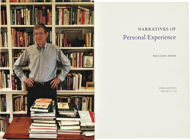 NARRATIVES OF PERSONAL EXPERIENCE. William S. Reese.