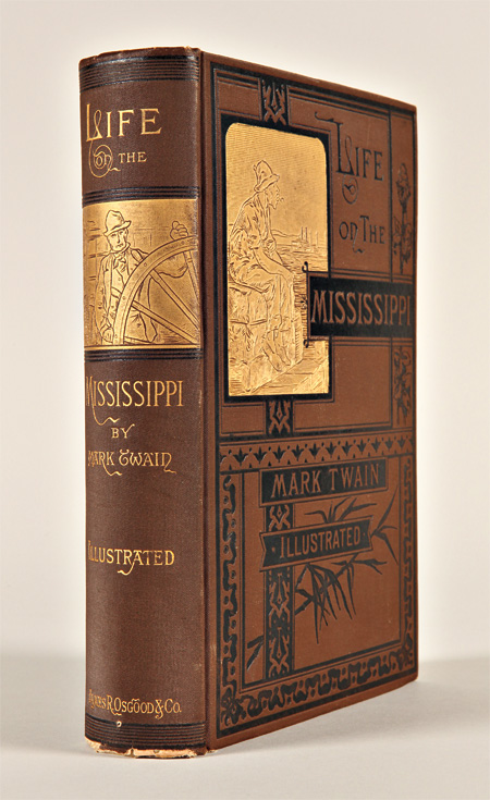 """LIFE ON THE MISSISSIPPI. By """"Mark Twain"""" [pseud]. Samuel L. Clemens."""
