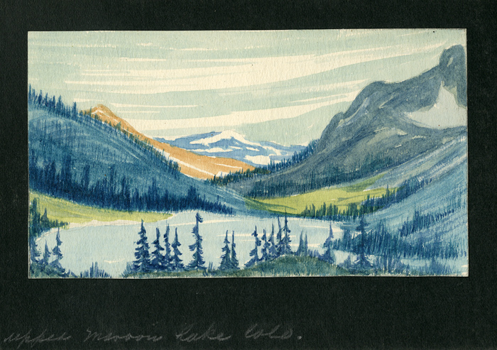 [SKETCHBOOK WITH THIRTY-SIX WATERCOLORS OF WESTERN LANDSCAPES]. Raymond Spencer.