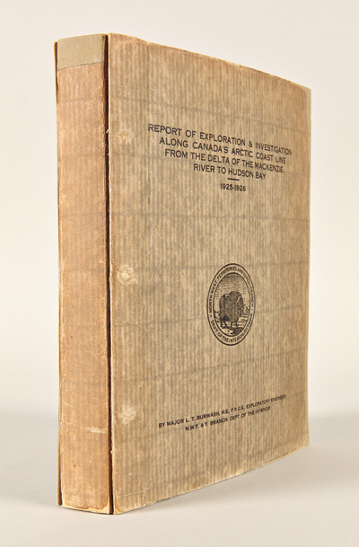 REPORT OF EXPLORATION & INVESTIGATION ALONG CANADA'S ARCTIC COAST LINE FROM THE DELTA OF THE MACKENZIE RIVER TO HUDSON BAY. 1925 - 1926. Lacklan Taylor Burwash.