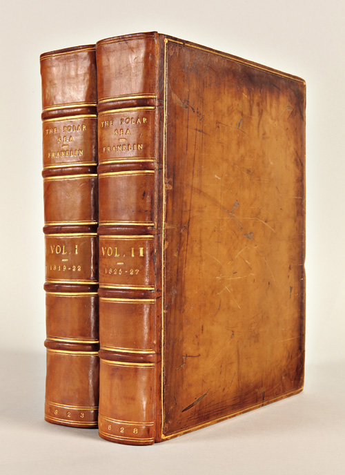 NARRATIVE OF A JOURNEY TO THE SHORES OF THE POLAR SEA, IN THE YEARS 1819, 20, 21, AND 22...WITH AN APPENDIX ON VARIOUS SUBJECTS RELATING TO SCIENCE AND NATURAL HISTORY.... [with:] NARRATIVE OF A SECOND EXPEDITION TO THE SHORES OF THE POLAR SEA, IN THE YEARS 1825, 1826, AND 1827...INCLUDING AN ACCOUNT OF THE PROGRESS OF A DETACHMENT TO THE EASTWARD, BY JOHN RICHARDSON. John Franklin.