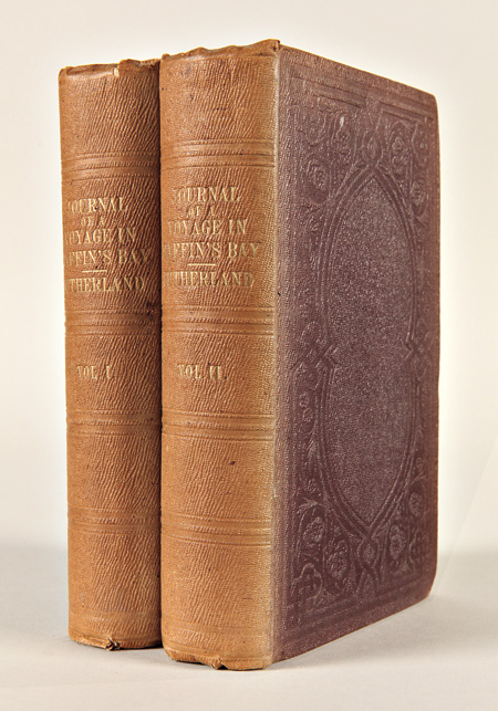 "JOURNAL OF A VOYAGE IN BAFFIN'S BAY AND BARROW STRAITS, IN THE YEARS 1850 - 1851, PERFORMED BY H.M. SHIPS ""LADY FRANKLIN"" AND ""SOPHIA,"" UNDER THE COMMAND OF MR. WILLIAM PENNY, IN SEARCH OF THE MISSING CREWS OF H.M. SHIPS EREBUS AND TERROR. Peter C. Sutherland."