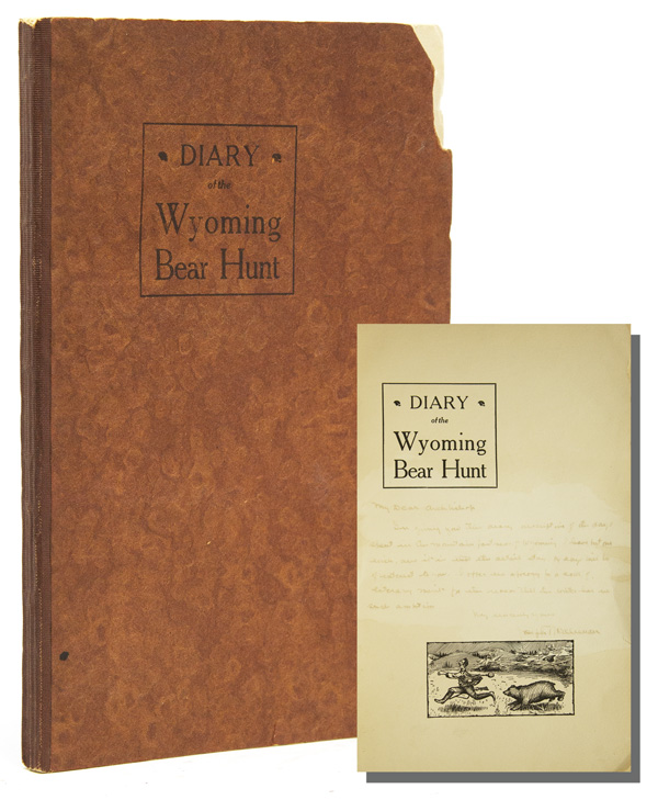DIARY OF THE WYOMING BEAR HUNT. Joseph McAleenan.