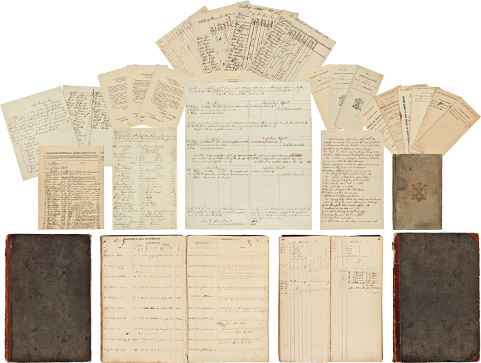 [ROBUST CIVIL WAR ARCHIVE CONTAINING PRINTED AND MANUSCRIPT REPORTS AND LEDGERS RELATING TO THE 40th REGIMENT OHIO INFANTRY]. Civil War, George Day Stone, Lieut.