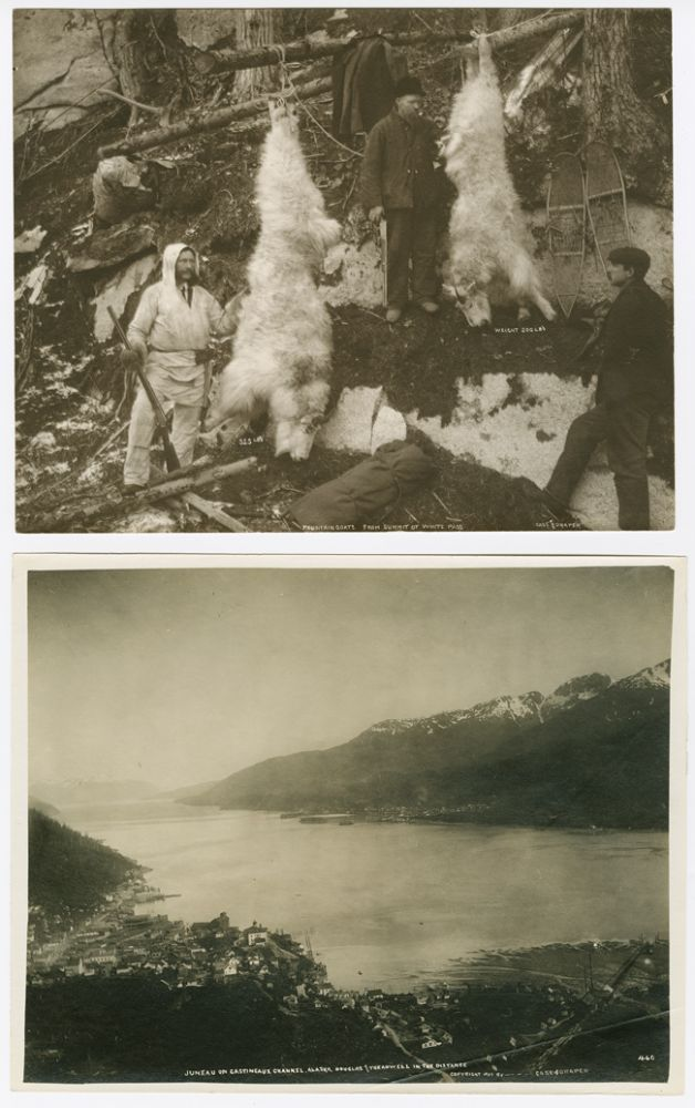 [TWO LARGE, ATTRACTIVE ALASKAN IMAGES BY EARLY 20th-CENTURY PHOTOGRAPHERS CASE & DRAPER]. Alaska Photographica, Case, Draper.