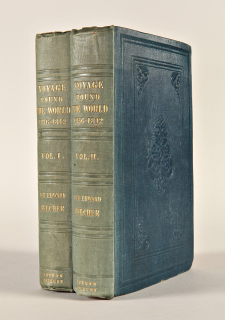 NARRATIVE OF A VOYAGE ROUND THE WORLD, PERFORMED IN HER MAJESTY'S SHIP SULPHUR, DURING THE YEARS 1836 - 1842, INCLUDING DETAILS OF THE NAVAL OPERATIONS IN CHINA, FROM DEC. 1840, TO NOV. 1841. Edward Belcher.