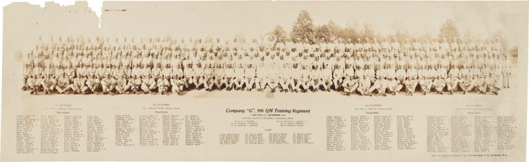 """COMPANY """"G"""", 9th QM TRAINING REGIMENT, CAMP LEE, VA., SEPTEMBER, 1942. African-American Photographica."""