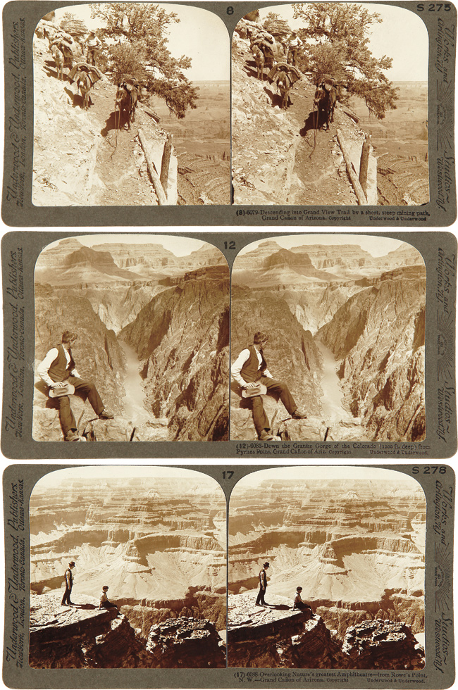 THE GRAND CAÑON OF ARIZONA THROUGH THE STEREOSCOPE. THE UNDERWOOD PATENT MAP SYSTEM COMBINED WITH EIGHTEEN ORIGINAL STEREOSCOPIC PHOTOGRAPHS. Arizona, Frederick Samuel Dellenbaugh.