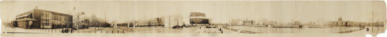 [LARGE-FORMAT PANORAMIC PHOTOGRAPH OF THE INTERNATIONAL GOVERNMENT ZONE OF THE 1939 NEW YORK WORLD'S FAIR]. New York Photographica, Charles F. Allen, Gabriel Allen.
