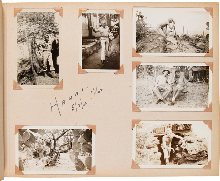 [PHOTOGRAPH ALBUM OF UNITED STATES ARMY SSGT. HARVEY D. BURGSTRESSER IN THE SOUTH PACIFIC DURING WORLD WAR II, INCLUDING SERVICE IN THE PHILIPPINES, GUADALCANAL, AND ELSEWHERE]. Harvey D. Burgstresser, World War II Photographica.