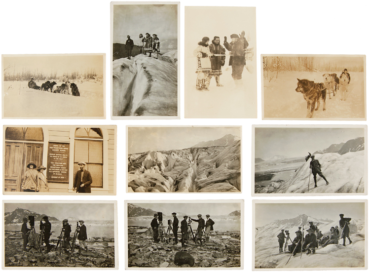 [ARCHIVE OF EARLY FILM PHOTOGRAPHS RETAINED BY GUERNEY HAYS, A CINEMA SET AND LIGHTING SPECIALIST FROM OREGON, WITH MANY PHOTOGRAPHS FROM THE SET OF The Chechahcos, A 1924 AMERICAN SILENT FILM SET DURING THE KLONDIKE GOLD RUSH AND THE FIRST FILM SHOT IN ALASKA]. Alaska Photographica, Early Film Photography.