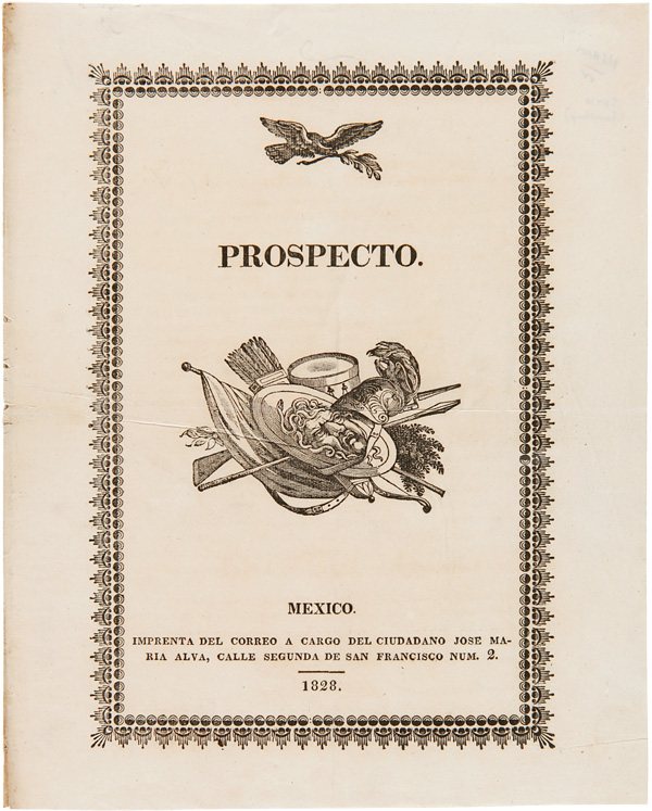 PROSPECTO [wrapper title]. Theubet de Beauchamp.