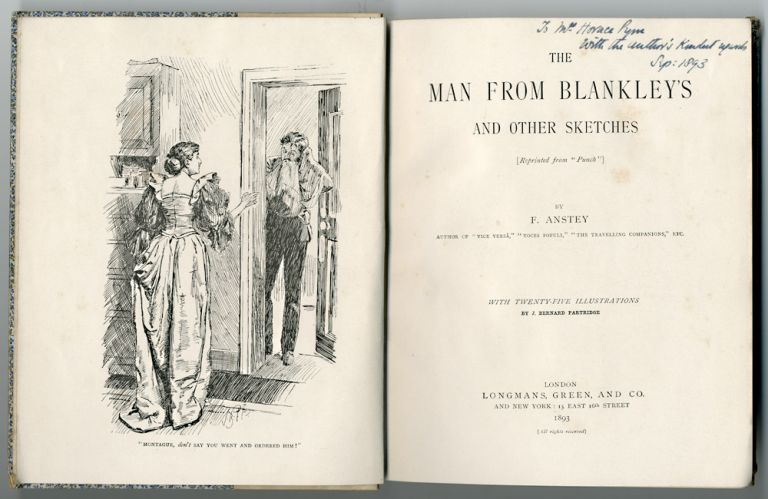 "THE MAN FROM BLANKLEY'S AND OTHER SKETCHES [REPRINTED FROM ""PUNCH""]. F. Anstey, pseud. of Thomas Anstey Guthrie."