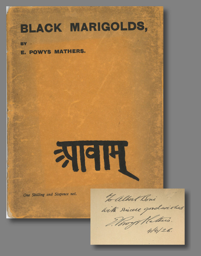 "BLACK MARIGOLDS BEING A RENDERING INTO ENGLISH OF THE ""PANCHASIKA OF CHAURAS...."" E. Powys Mathers, trans."