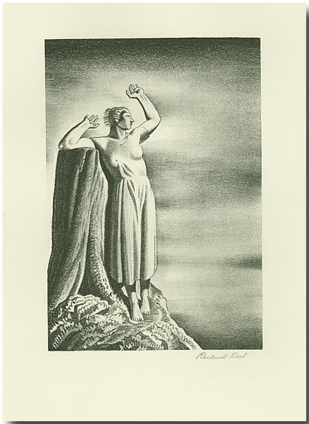 FAREWELL [Original stone lithograph, signed]. Rockwell Kent.