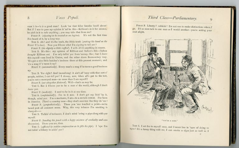 """VOCES POPULI [REPRINTED FROM """"PUNCH"""" ] ... WITH TWENTY ILLUSTRATIONS BY BERNARD J. PARTRIDGE. F. Anstey, pseud. of Thomas Anstey Guthrie."""