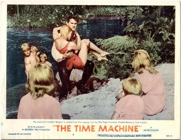[Two Original Color Studio Lobby Cards for:] THE TIME MACHINE. H. G. Wells, sourcework.