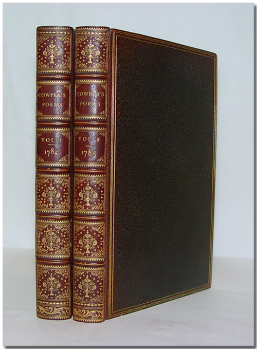 POEMS BY ... OF THE INNER TEMPLE, ESQ. [with:] THE TASK, A POEM IN SIX BOOKS ... TO WHICH ARE ADDED ... AN EPISTLE TO JOSEPH HILL, ESQ. TIROCINIUM, OR A REVIEW OF SCHOOLS, AND THE HISTORY OF JOHN GILPIN. William Cowper.