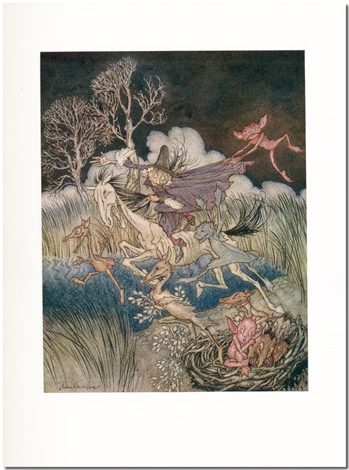 THE LEGEND OF SLEEPY HOLLOW. Arthur Rackham, Washington Irving.