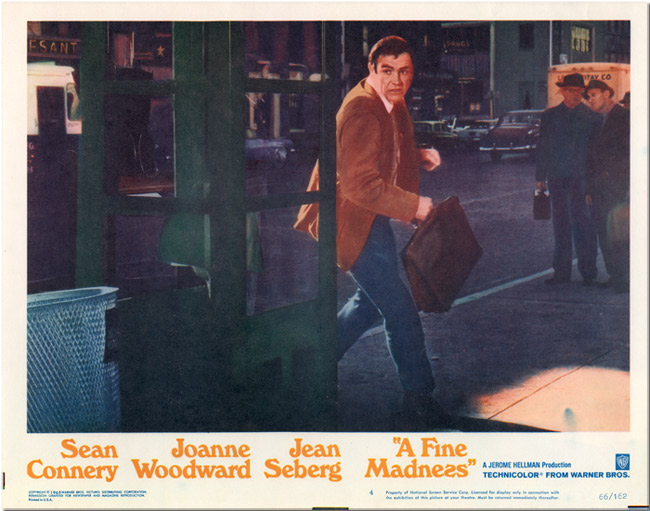 [Group of Five Lobby Cards for:] A FINE MADNESS. Elliott Baker, sourcework, screenwriter.