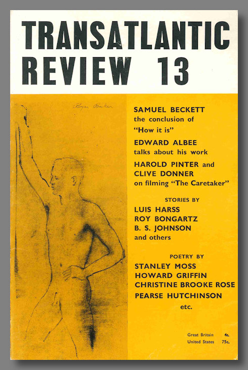 """""""CONCLUSION OF 'HOW IT IS',"""" contained in THE TRANSATLANTIC REVIEW 13. Samuel Beckett."""