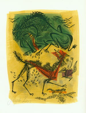 A FOX & A SICK LION. NO. 54 IN THE FABLES OF AESOP & OTHER EMINENT MYTHOLOGISTS. Roger L'Estrange, trans.