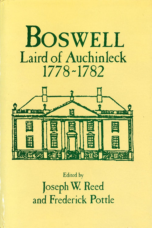 BOSWELL LAIRD OF AUCHINLECK 1778-1789. James Boswell.