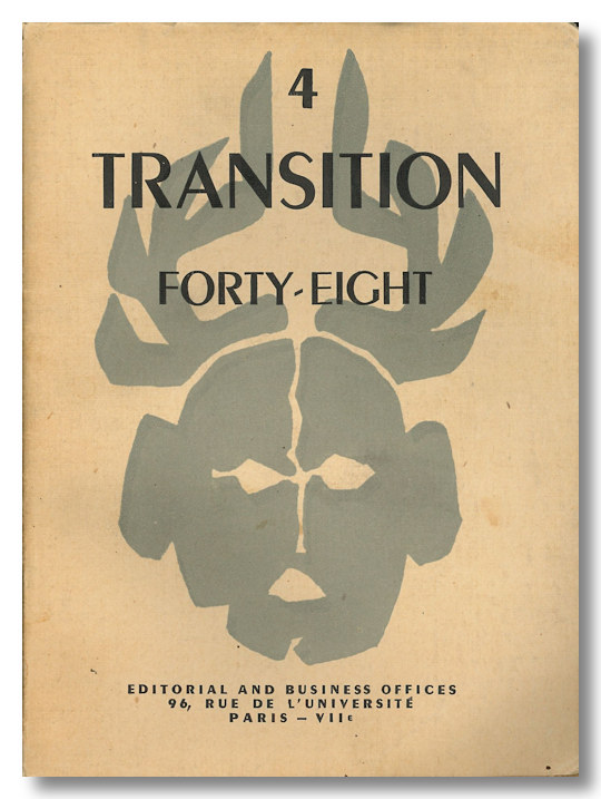 TRANSITION FORTY-EIGHT [Whole Number Four]. Jean Genet.